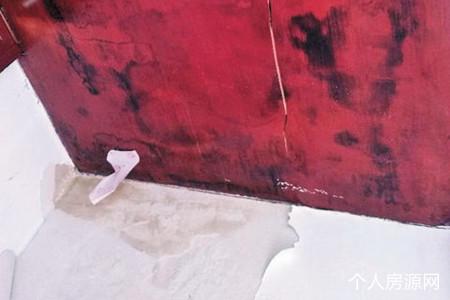 达州南城伴山名居小区房屋外墙渗水